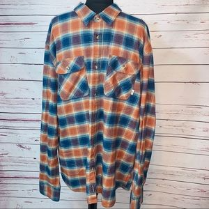 Vans Off The Wall Plaid Flannel Shirt Button Front